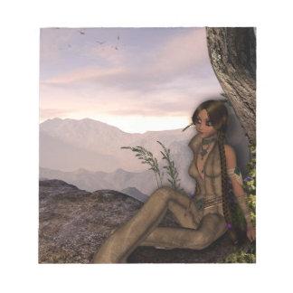 Sonnenuntergang-ErstUreinwohner-Fantasie Notizblock