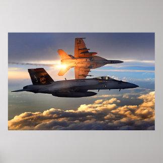 Sonnenuntergang F-18 Poster