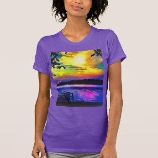 SONNENUNTERGANG-FARBEN AUF LT.PURPLE JERSEY T-Shirt
