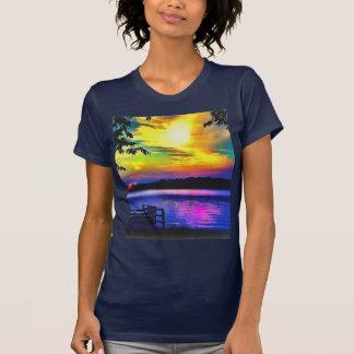 SONNENUNTERGANG-FARBEN AUF T-Shirt