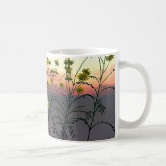 Sonnenuntergang-Feld Kaffeetasse