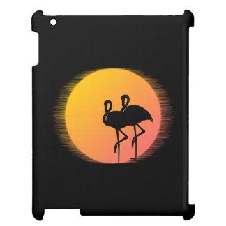 Sonnenuntergang-Flamingo-Ruhe iPad Hülle