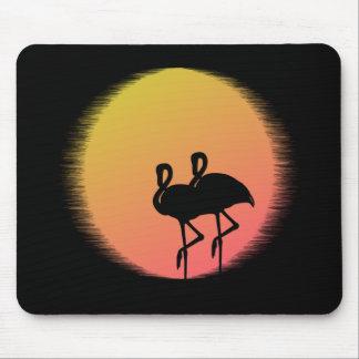 Sonnenuntergang-Flamingos Mousepad