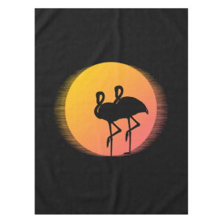 Sonnenuntergang-Flamingos Tischdecke