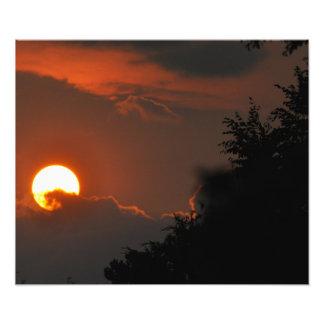 Sonnenuntergang-Foto Fotodruck