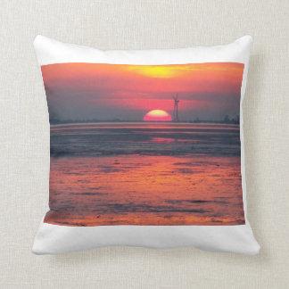Sonnenuntergang Friesland Kissen
