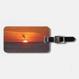 Sonnenuntergang-Gepäckanhänger Kofferanhänger