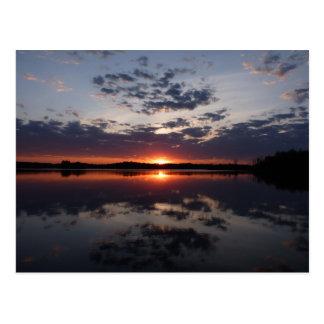 Sonnenuntergang GL Postkarte