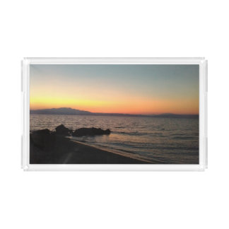Sonnenuntergang-Griechenland-SeeFoto Acryl Tablett