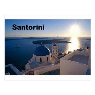 Sonnenuntergang Griechenlands Santorini (St.K) Postkarte