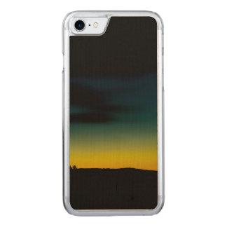 Sonnenuntergang grün-gelb carved iPhone 8/7 hülle