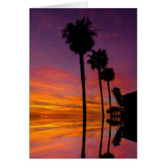 Sonnenuntergang-Gruß-Karte Grußkarte