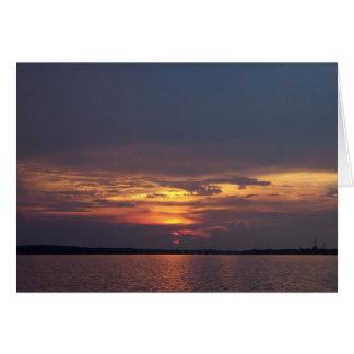 Sonnenuntergang-Gruß-Karte Karte