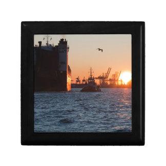 Sonnenuntergang-Hamburg-Hafen Erinnerungskiste