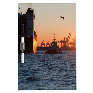 Sonnenuntergang-Hamburg-Hafen Memoboard