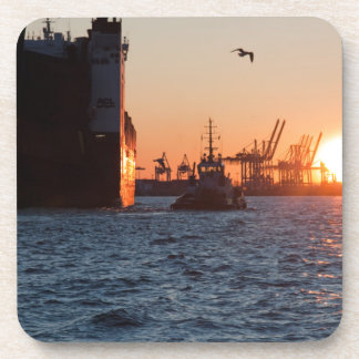 Sonnenuntergang-Hamburg-Hafen Untersetzer