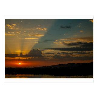 Sonnenuntergang-Himmel Postkarte