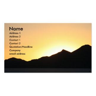 Sonnenuntergang I Visitenkartenvorlagen