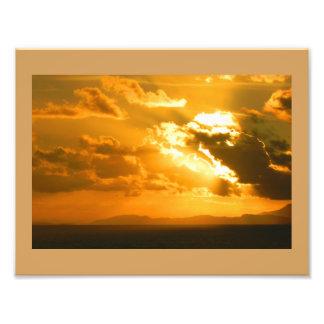 Sonnenuntergang im Caribean - Fotodruck