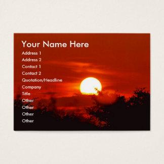 Sonnenuntergang im Paradies Visitenkarte