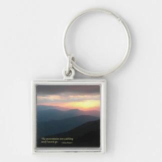 Sonnenuntergang im Smokies: Mtns sind Nennen/Muir Schlüsselanhänger
