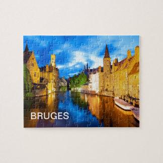 Sonnenuntergang in Brügge. Belgien Jigsaw Puzzles
