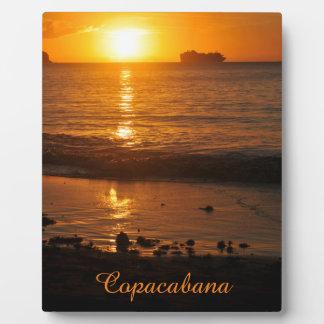 Sonnenuntergang in Copacabana, Brasilien Fotoplatte
