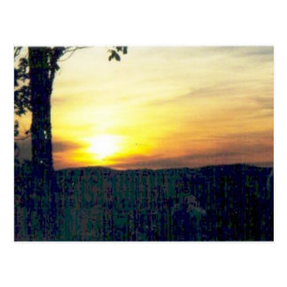 Sonnenuntergang in den smokies #68 postkarte