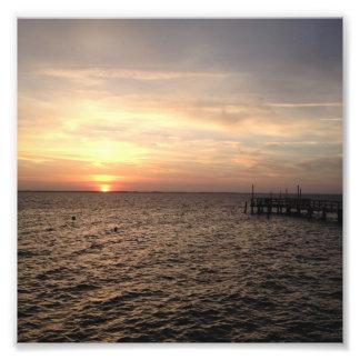 Sonnenuntergang in der Ente, North Carolina Fotodruck