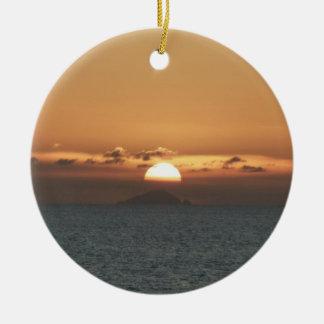 Sonnenuntergang in der Meerblick-Fotografie Keramik Ornament