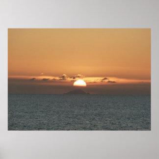 Sonnenuntergang in der Meerblick-Fotografie Poster