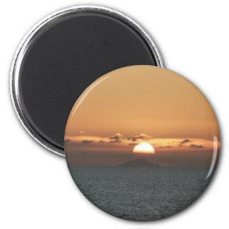 Sonnenuntergang in der Meerblick-Fotografie Runder Magnet 5,7 Cm