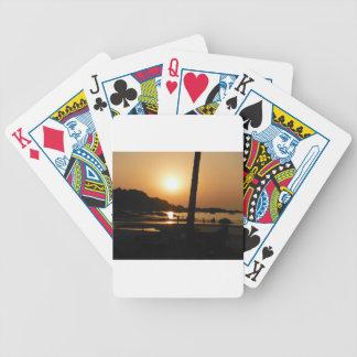 Sonnenuntergang in Goa Bicycle Spielkarten