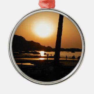 Sonnenuntergang in Goa Silbernes Ornament