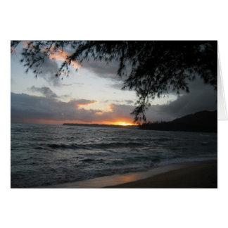 Sonnenuntergang in Kauai Karte