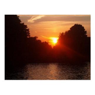 Sonnenuntergang in Kingston Postkarte