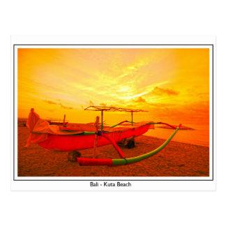 Sonnenuntergang in Kuta Postkarte