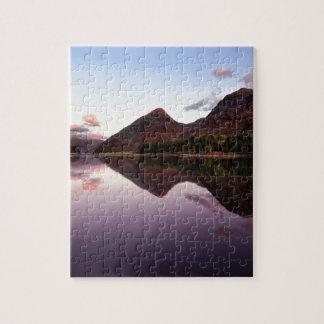 Sonnenuntergang in Loch Leven, Schottland Puzzle