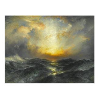 Sonnenuntergang in Meer - 1906 Postkarte