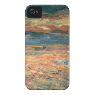 Sonnenuntergang in Meer durch Pierre Renoir, iPhone 4 Cover
