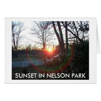 SONNENUNTERGANG IN NELSON-PARK KARTE