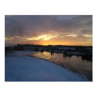 Sonnenuntergang in Postkarte Lanzarote 2