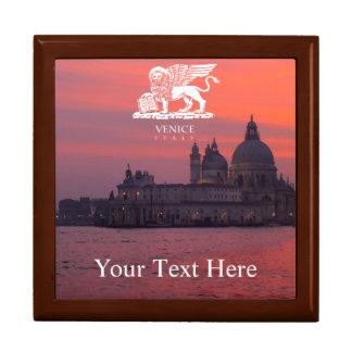 Sonnenuntergang in Venedig Große Quadratische Schatulle