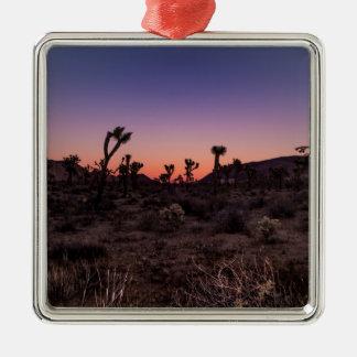 Sonnenuntergang-Joshua-Baum-Nationalpark Silbernes Ornament
