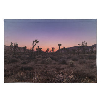 Sonnenuntergang-Joshua-Baum-Nationalpark Stofftischset