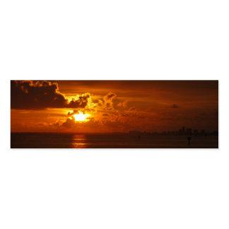 Sonnenuntergang Jumbo-Visitenkarten
