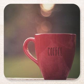 Sonnenuntergang-Kaffee-Untersetzer Rechteckiger Pappuntersetzer