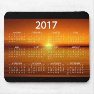Sonnenuntergang-Kalender 2017 Mousepad