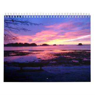 Sonnenuntergang-Kalender Abreißkalender