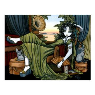 Sonnenuntergang-Katzen-Fee-Postkarte Serena eklekt Postkarten